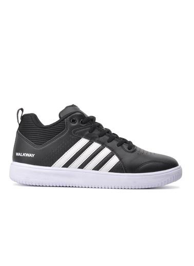 Walkway Akros Beyaz-Siyah Unisex Spor Ayakkabı Siyah